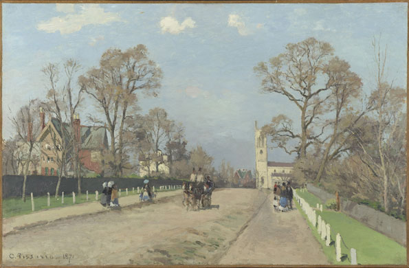 Corot to Monet National Gallery London Camille Pissaro The Avenue Syndenham