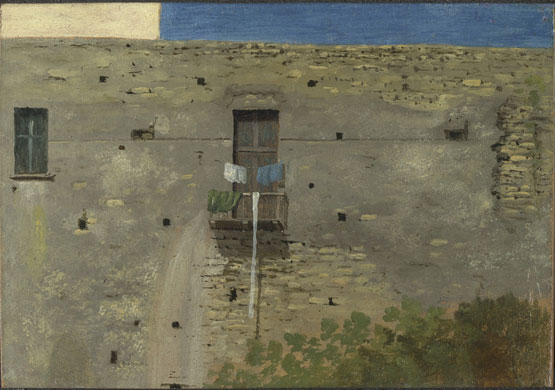 Corot to Monet the National Gallery London A Wall in Naples Thomas Jones