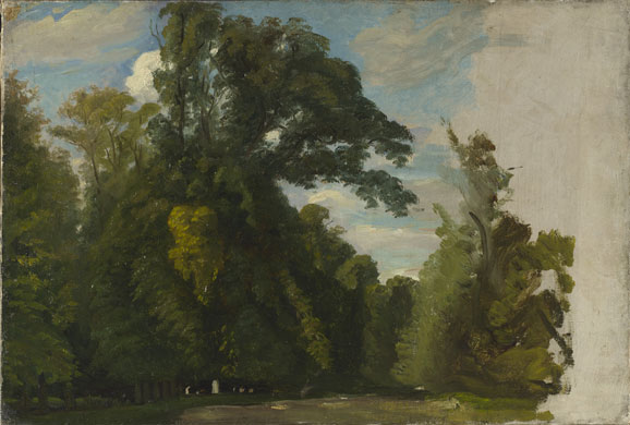 Corot to Monet Paul Huet Trees in the Park at saint-cloud National gallery