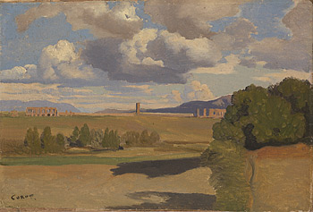 Corot to Monet National Gallery the Roman Campagna with the Claudian Aqueduct Jean Baptiste Camille Corot
