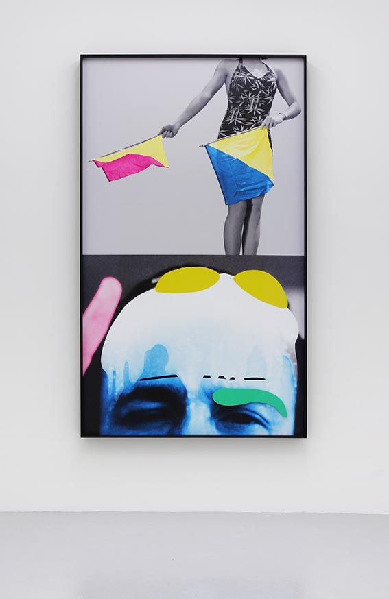 John Baldessari Raised Eyebrows Furrowed Foreheads Woman with Semaphore Flags mai 36