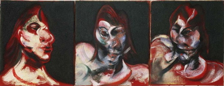 Francis Bacon, Three Studies for the Portrait of Henrietta Moraes (1963) Paint Made Flesh, The Phillips Collection