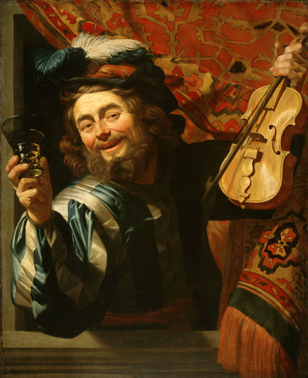 Gerard van Honthorst, The Merry Violinist with a Wine Glass, Caravaggio in Holland, The Städel Museum