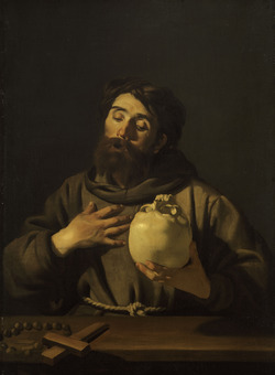 Dirck van Baburen, Saint Francis, Caravagio in Holland, The Städel Museum