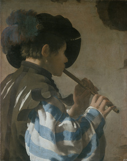 Hendrick Terbrugghen, Flute Player, Caravaggion in HOolland, The Stäel Museum