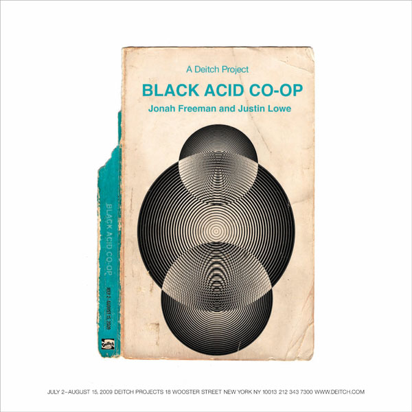 Jonah Freeman, Justin Lowe, Black Acid Co-op, Deitch Projects - book