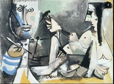 Pablo Picasso, The Artist and his Model, Paint Made Flesh, The Phillips Collection