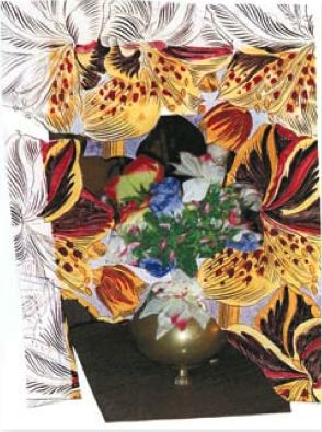 Thomas Mickalene still life with flowers in flower Benefit watermill