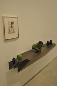 Untitled (Hulk) by Haim Steinbach.  Photo by Michael Bartelle.