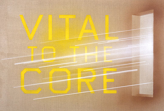 Vital to the Core - Ed Rusha