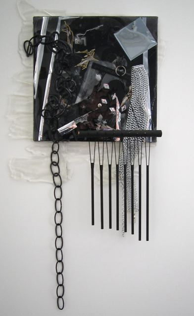 jutta koether untitled (eagle, swastika, chimes) white noise james cohan gallery