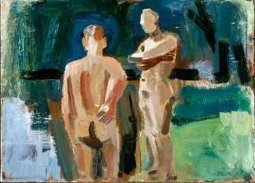 david park, male nudes at the water, Paint Made Flesh, The Phillips Collection