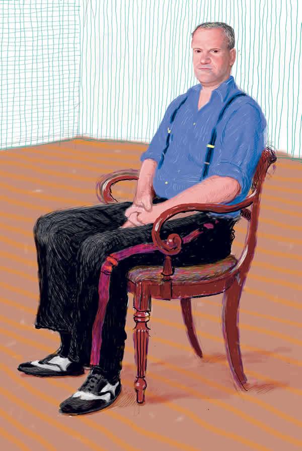David Hockney, John Fitz-Herbert, Drawing in a Printing Machine, Annely Juda