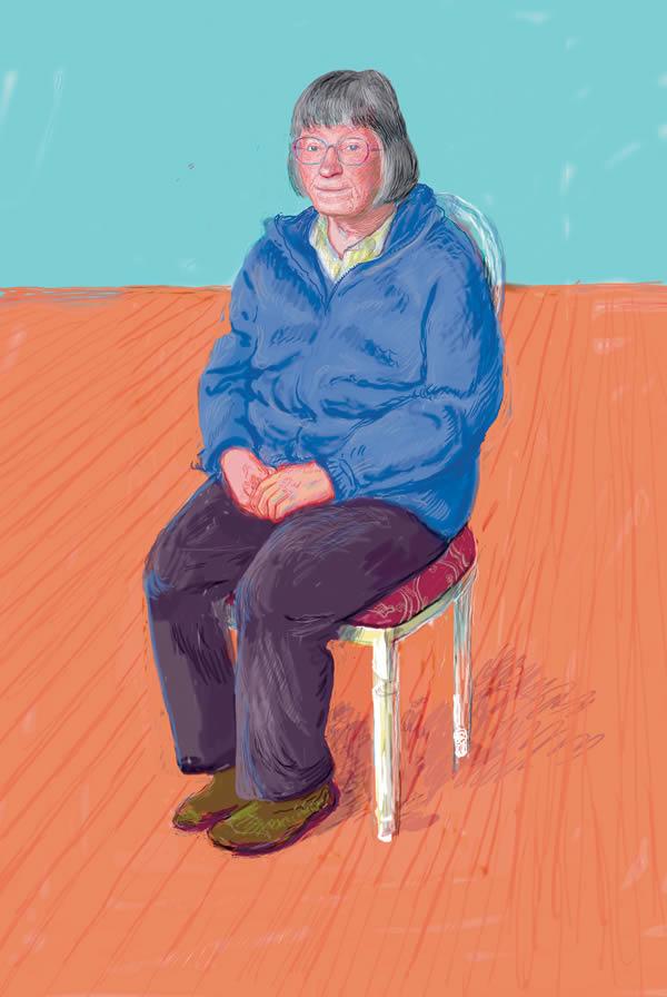 David Hockney, Margaret Hockney, Drawing in a Printing Machine, Annely Juda