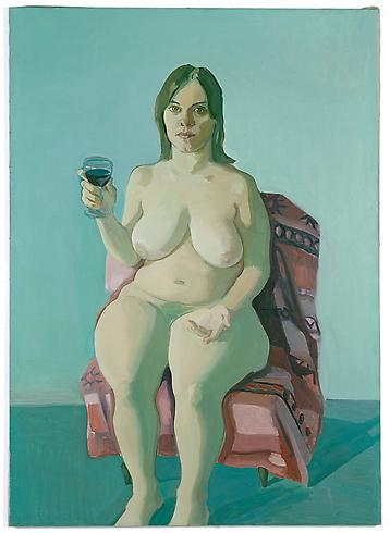 Maria Lassnig, Girl With Wine Glass, The Female Gaze: Women Look at Women, Cheim & Read