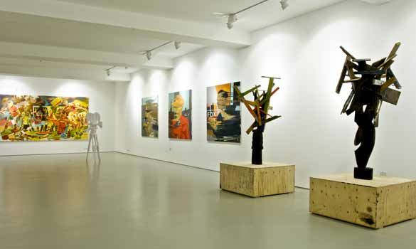 Exhibition View Chapman brothers Shamanov