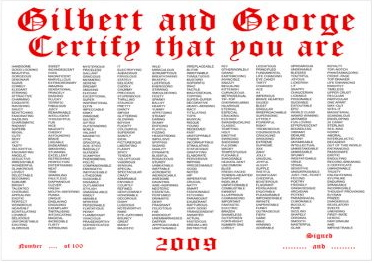 gilbert and george certify that you are white cube jack freak pictures