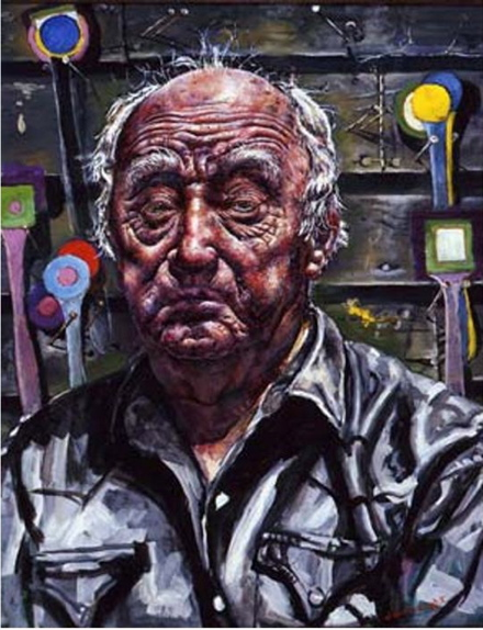 Ivan Albright, Self-portrait in Georgia (1967-68), Paint Made Flesh, The Phillips Collection