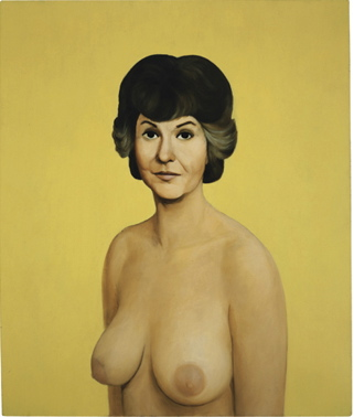 john currin bea arthur nude the figure and dr freud haunch of venison