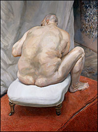 Lucian Freud, Naked Man, Back View, Paint Made Flesh, The Phillips Collection