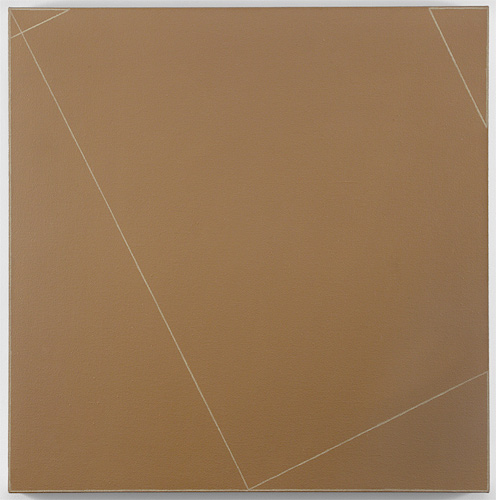 Robert Mangold Andrea Rosen Gallery Four Triangles within a Square #1