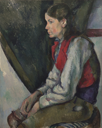 Boy in a Red Vest, Paul Cézanne Rockefeller MOMA