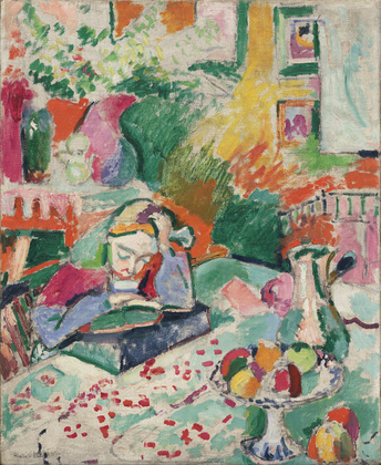 Henri Matisse Interior with a Young Girl (girl reading) MoMA Rockefeller