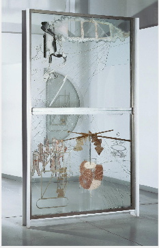 The Bride Stripped bare by her bachelors, even (the large glass), marcel duchamp, philadelphia museum of art, étant donnés