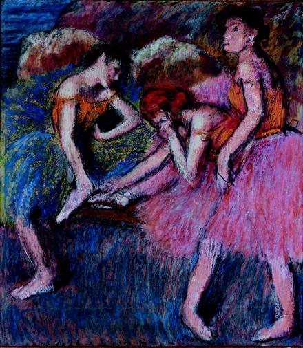 edgar degas Danseuses (Danseuses au repos) fondation l'hermitage cezanne rothko