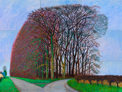 David Hockney-Grobere Baume bei Warter-2008