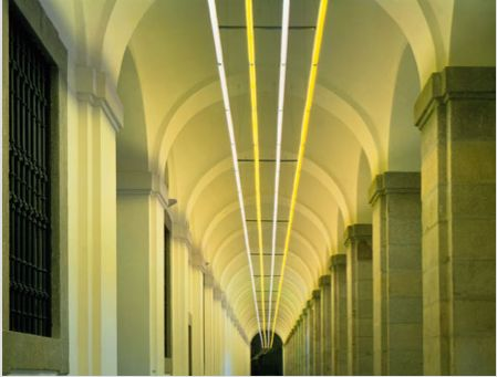 Pink and Yellow Light Corridor Bruce Nauman