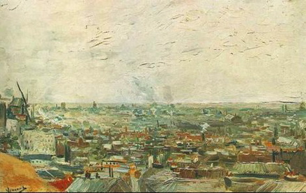 View-Of-Paris-From-Montmartre van gogh kunstmuseum basel