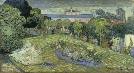 van Gogh, Le jardin de Daubigny, 1890