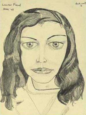 Lucian Freud, Dark Coat II, 1948