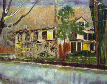 Peter Doig, Pine House (Rooms for Rent), 1994 christies auction