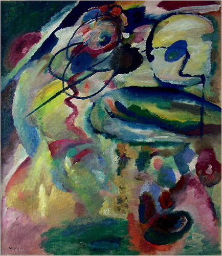 Picture with a circle-1911-Kandinsky