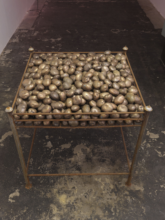 Subodh Gupta Common Man potato ring