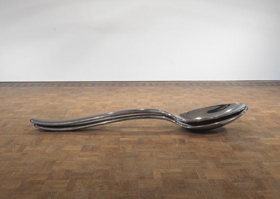 Subodh Gupta Common Man spooning