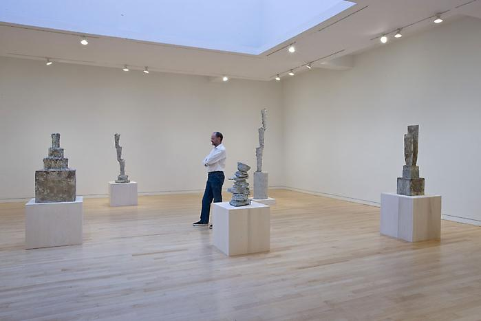 Cy Twombly Gagosian Gallery Sculpture view exhibition