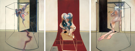 """Bacon's Triptych Inspired by the Oresteria"""" (1981) Via Tate Britain"""