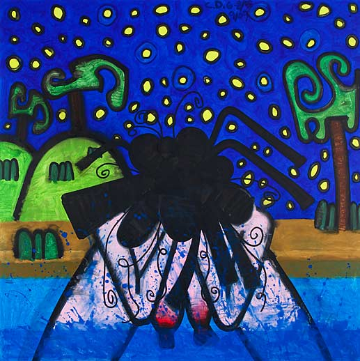 Carroll Dunham Gladstone Gallery Bather Night