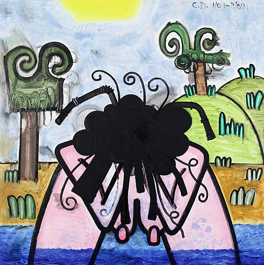 Carroll Dunham Gladstone Gallery Bather (one)