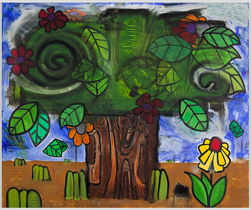 Carroll Dunham Gladstone Gallery New Time Storm