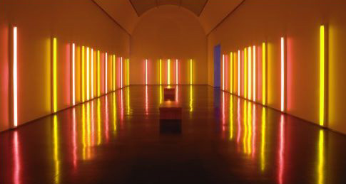 Dan Flavin-alternating pink and gold-1967