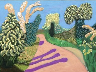 David_Hockney-Hawthorne Blossom Woldgate No.4-2009