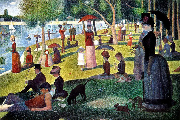 George Seurat, Suday Afternoon Grand Jatte, 1884, Via Artattler