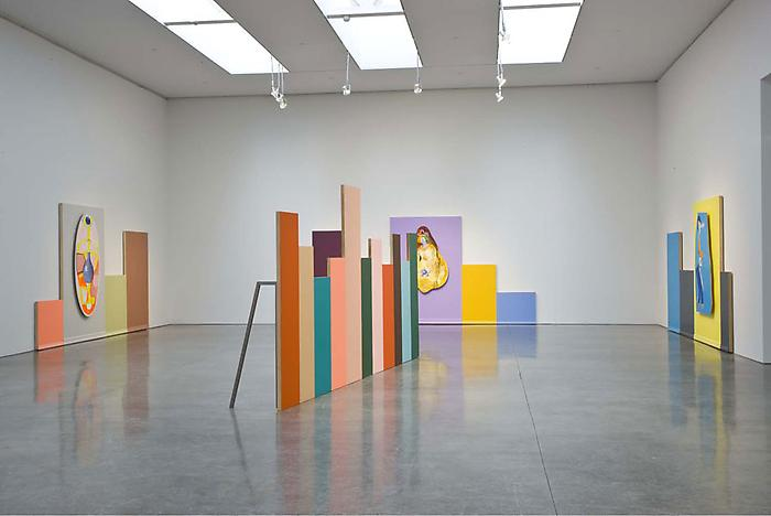 "Mike Kelley ""Horizontal Tracking Shots"" Installation View"
