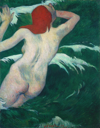 "Paul Gauguin, ""In the Waves"" 1889, Via VOGUE"