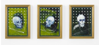 Damien Hirst-Three Green Skulls-2008