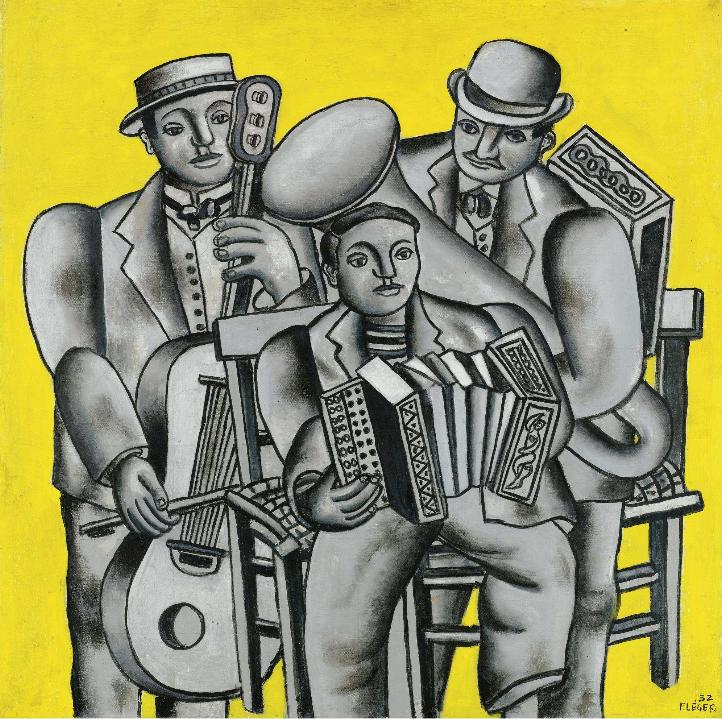 Les Trois Musiciens, ler Etat, Fernand Léger (1932)